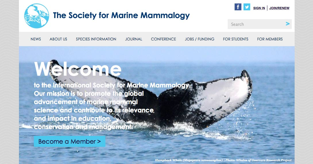 marine mammal science Scope, published for the society for marine mammalogy, marine mammal  science is a source of significant new findings on marine mammals resulting from .