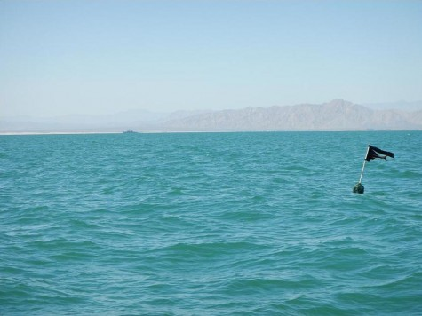 Illegal fishing within the Vaquita Refuge 2 days before the Presidential visit with Navy ship in the background
